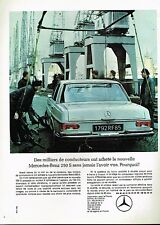 C- Publicité Advertising 1966 Mercedes Benz 250 S