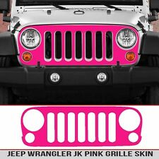 Jeep Grille Skin Bright Pink decal die cut Fits JK Wrangler 07-18 Install kit
