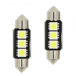 C5W Ampoules LED 39mm Canbus Blanc Xenon 6000K Veilleuses pour voiture 3 SMD
