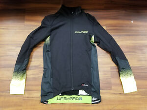 Louis Garneau Men's Course Wind Pro Jersey, Long-Sleeve, Black/Yellow, M