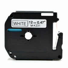 Compatible for Brother P-touch Labels MK231 MK-231 12mm x 8m BLACK/WHITE Tape