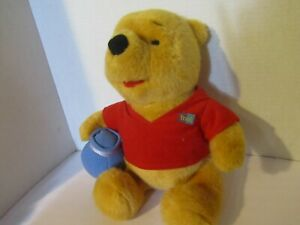 Disney Plush WINNIE THE POOH WITH HONEY POT  13""