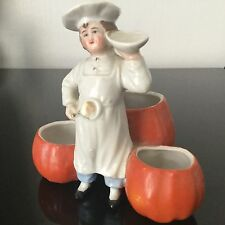 Serviteur Saleron Ancien En Porcelaine Cuisinier Marmiton Salt Pot Cooker