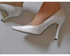 High (3 in. and Up) Leather Bridal or Wedding Medium (B, M) Heels for Women