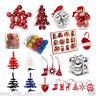 Christmas Tree Decorations Xmas Decor Hangers Snowman Santa Baubles Reindeer Lot
