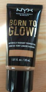 NYX Born to Glow Naturally Radiant Foundation BTGRF13 GOLDEN FREE SHIPPING
