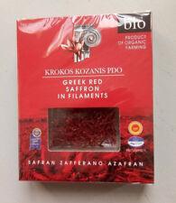 Krokos Kozanis Organic Greek Red Saffron in Filaments 1g  SEALED PACKAGING