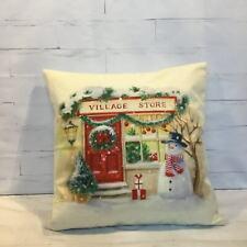 Christmas Robin Cushion Cover Decorative Bird Vintage Farmhouse Shabby Chic Gift