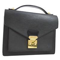 LOUIS VUITTON MONCEAU 2WAY HAND BAG SATCHEL BLACK EPI M52122 AK37967e