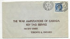 R.C.A.F. Station, Summerside, P. E. I. cancel on a War Amputations cover