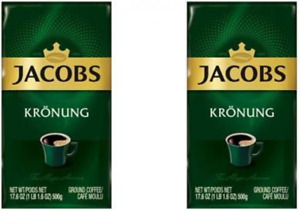 Jacobs Kronung Ground Coffee 500 Gram / 17.6 Ounce (Pack of 2)