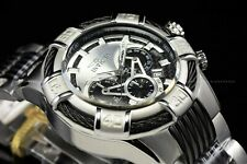 Invicta Men Bolt 52mm Tachymeter High Polish Steel & Black Chrono Two Tone Watch
