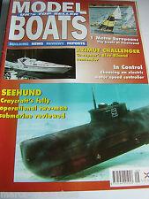 Modell Boote September 1996 Seehund Sub Azimut Atlantic Challenger Bill bithell