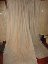 NATURAL NEUTRAL LINEN (PAIR) BLACKOUT LINED DRAPERY PANELS 50 X 96
