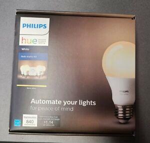 Philips Hue White Bulb Starter Kit Hub & 4 Bulbs E26 Brand New Factory Sealed