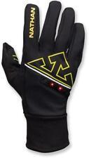 Mens Unisex Nathan Black Igniter Running Gloves Size M USB Lightwave LED Tech