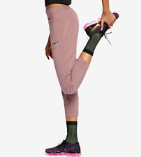 NIKE SWIFT RUNNING DIVISION 7/8 SLIM FIT TROUSERS PANTS -MAUVE 928769-259 XS S M