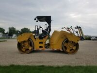 "2013 Caterpillar CB64 Vibratory Double Drum Roller 84"" FINANCING SHIPPING"