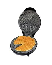 NEW 700W ELECTRIC NON-STICK WAFFLE MAKER MAKING MACHINE 5 HEART SHAPED WAFFLES