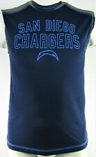 San Diego Chargers Vintage NFL Team Apparel Men's Perforated Sleeveless Shirts