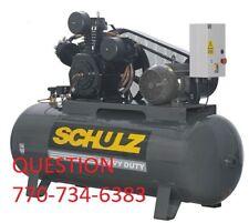15hp air compressor 60 cfm -schulz-120 gallon
