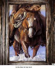 Horsein Around Cotton quilt fabric Penny Rose Digital Panel 36x44 Job