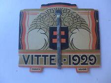 1929 rare CALENDRIER de table  VITTEL   bon état
