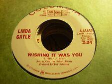 "LINDA GAYLE wishing it was you / fly away ( r&b ) - 7"" / 45 - PROMO -"