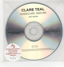 (GH269) Clare Teal, Chasing Cars - 2011 DJ CD