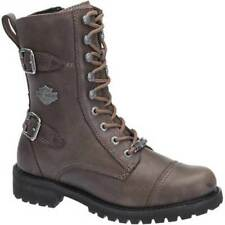 Harley Davidson Balsa Ladies Womens Leather Motorcycle Boots Stone Grey