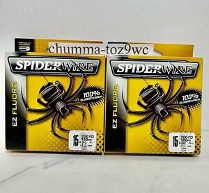 SPIDERWIRE EZ FLORO 100% Fluorocarbon 15lb/200yds,(Lot Of 2) Bass Fishing,(NWT!)