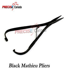 Mathieu Ligature Elastic Placing Plier 55 Full Black Coated Orthodontic Pliers