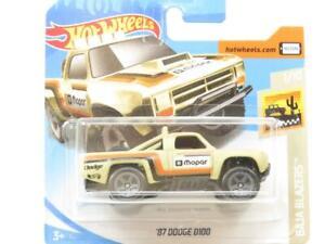 Hot Wheels 87 Dodge D100 Sand Baja Blazers 64 Short Card 1 64 Scale Sealed New