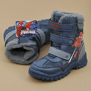 Marvel Spiderman Snowboots Kinderschuhe Winterstiefel Warmfutter Klettverschluss