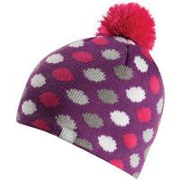 686 Girls Dots Fleece Beanie (Raspberry)