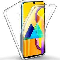 Coque Pour Samsung Galaxy M21/M30S Étui Transparent Avant Arrière En TPU 360
