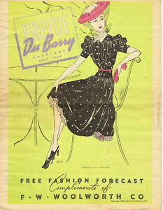 1940s Vintage Du Barry Fashion Preview Sewing Pattern Flyer 12 Pages  July 1939