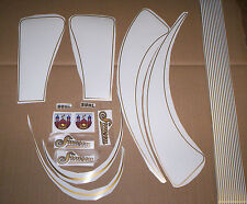 SR2,Aufklebersatz,Tankbögen,Zierstreifen,Gold,SR2E,Simson,Oldtimer,DDR,Raritäten