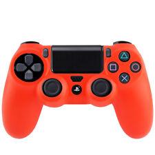 Sony playstation 4 contrôleur ps4 Housse étui silicone souple mat Housse de protection rouge