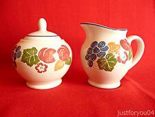 Staffordshire Tableware - Chianti Collectors Creamer And Lidded Sugar Bowl