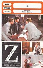 Fiche Cinéma - COSTA-GAVRAS - Z - 1968