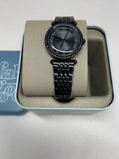 Fossil Women's Lyric Three-Hand Black Stainless Steel Watch ES4713