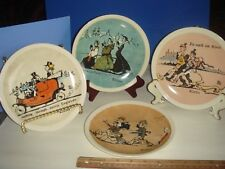 Set of 4 Norman Rockwell Collector Plates by Newell Pottery Co.