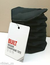 BRAND NEW ~ BUILT Neoprene Origami Champagne Tote CARRIER (black) by Built NY