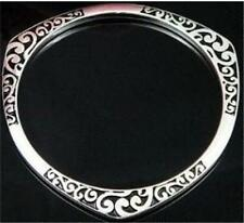 Wholesale Classic WOMEN Jewelry 925SOLID SILVER Charm Cuff Bracelet Bangle gift