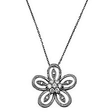 Stunning Flower Necklace Set Sterling Silver 925 Best Deal Jewelry USA Seller