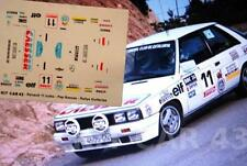 "DECAL CALCA 1/43 RENAULT 11 TURBO ""CAESSER"" J.BASSAS R MONTSENY GUILLERIES 1985"