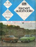 RTA revue technique automobile N° 93 SKODA S100  100L 110 L LS R berline coupe