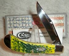 Case XX Green Apple Jigged Bone Saddlehorn Pocket Knife ~ New