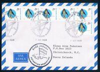 Antarctica • Argentina • 1999 • Airmail to New Zealand • Jubany Base